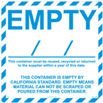 Empty Container Compliant Label