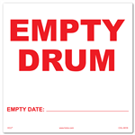 Empty Drum Label
