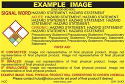 Custom GHS Safety SDS Labels