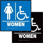 ADA Compliant Restroom Sign - Women's Handicap Symbol