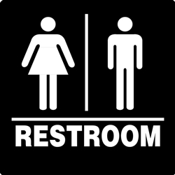 ADA Compliant Restroom Sign - Men's/Women's Symbol