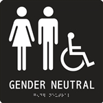 ADA Compliant Restroom Sign - Gender Neutral Handicap Symbol