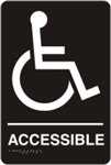 ADA Compliant Restroom Sign - Handicap Accessible Symbol