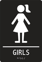 ADA Compliant Restroom Sign - Girls Symbol