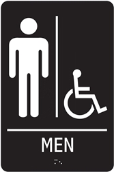 ADA Compliant Restroom Sign - Men's Handicap Symbol