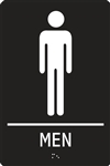 ADA Compliant Restroom Sign - Men Symbol