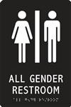 ADA Compliant Restroom Sign - All Gender Symbol