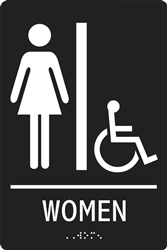 ADA Compliant Restroom Sign - Women Handicap Symbol