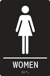 ADA Compliant Restroom Sign - Women Symbol