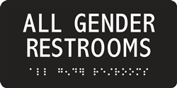 ADA Compliant Restroom Sign - All Gender Restroom