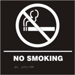 ADA Door Sign - No Smoking Symbol