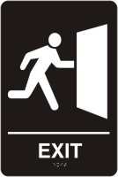 ADA Door Sign - Exit With Graphics