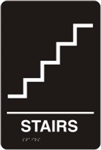 ADA Door Sign - Stairs Symbol