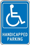 Parking Signs - Handicapped Parking - Reflective Aluminum