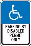 Parking Signs - Disabled Permit Only