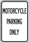 Parking Signs - Motorcycle Parking Only