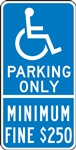 Parking Signs - Handicap Parking Only