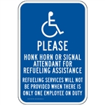 Gas Pump Signs - Please Honk For Assistance