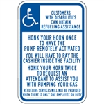 Gas Pump Signs - Customers With Disabilities Can Obtain Assistance