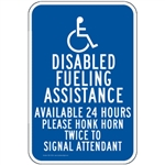 Gas Pump Signs - Disabled Fueling Assistance
