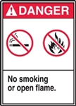 CIOMA Danger No Smoking or Flame