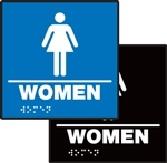 ADA Compliant Restroom Square Sign - Women Symbol