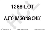 1268 Lot Auto Bagging Only (Clear Film Liner)