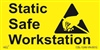 Static Safe Workstation Label