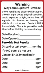May Form Explosive Peroxide Chemical Label