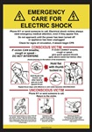 Emergency Care For Electric Shock Sign