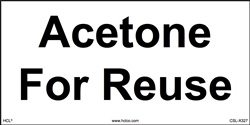"Acetone for Reuse - 2"" x 4"" Adhesive Vinyl"