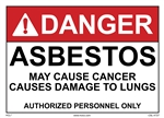 Danger Asbestos Sign (Custom)
