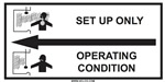 Set Up Only - Operating Condition for chemical fume hoods Label