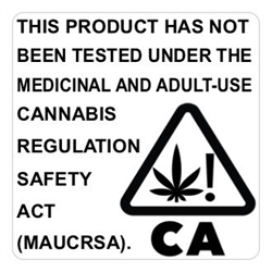 California Compliant Cannabis Label - CA Generic