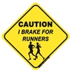 I Brake For Runners Sticker