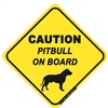 Pitbull On Board - Sticker
