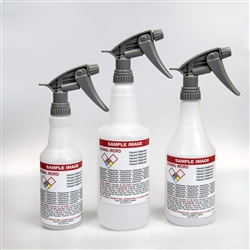 Pre-Labeled GHS Spray Bottles