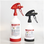 Kwazar Pre-Labeled GHS Spray Bottle