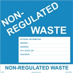 Custom Non-Regulated Waste Label