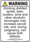 Alcoholic Beverages Proposition 65 Sign