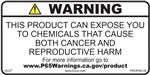 Consumer Product Warning Prop 65 Label