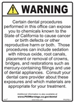 Dental Office Prop 65 Sign