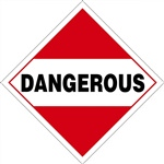 Dangerous  DOT HazMat Placard