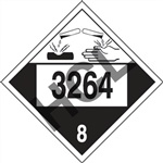 Corrosive Liquid  DOT HazMat Placard