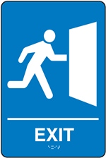 Exit - Braille Sign | HCL Labels, Inc