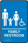 Family Restroom  Braille Sign | HCL Labels