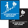 In Case Of Fire Use Stairs Braille Sign | HCL