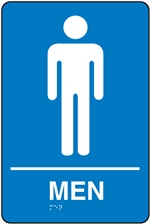 Men Restroom Braille Sign | HCL Labels