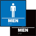 Men's Restroom Braille Sign | HCL Labels