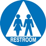Unisex Restroom Braille Sign | HCL Labels